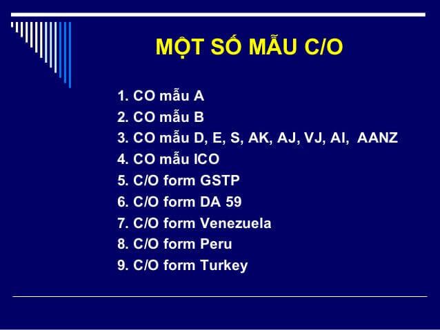 Định nghĩa, đặc điểm và mục đích của C/O (Certificate of Origin)